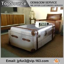 Useful Aluminium Storage Trunk Box, Living Room Decorative Trunk