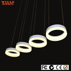 Wills eurpean round acrylic led pendant lighting