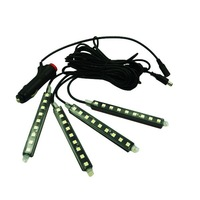 New Car Charge 5050 LED 12V Glow Interior Decorative 4in1 Atmosphere Light Lamp