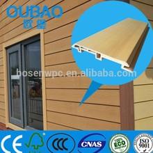 eco-friendly CE SGS ISO FSC certified 113 * 16mm wood plastic composite clapboard siding