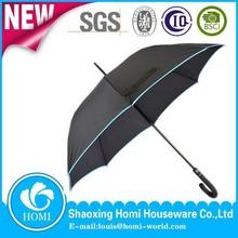 2015 Homi high quality unique straight umbrella curve handle customized