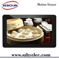 "10inch battery operated/10"" shelf mount touch screen restaurant menu"