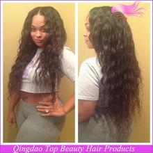 qingdao top beauty aliexpress new hair products virgin malaysian wigs,,virgin malaysian human deep wave hair lace front wig