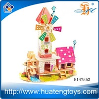 H147552 wooden doll house wooden house for kids