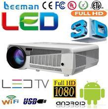 smart hd lcd video 3d beamer mini led full hd 1080p dlp projector led dlp 3d projector
