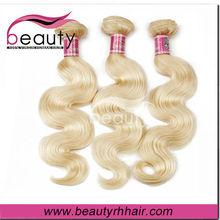 Fashionalbe european blonde virgin remy hair 27/613# color hair extension body wave