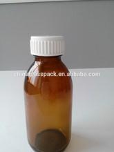 30-500ml pharmazeutischen glasflasche mit kunststoffkappe gelb und klar farbe