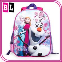 Europe and America Hot Selling New Designl Bag Of Frozen Childen's Carton School Bag ZZJ-FR-24