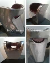 Aluminum vintage fiberglass aviator chair/ Ron Arad inspired Little Albert Chair