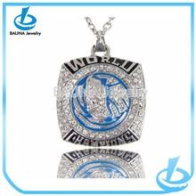Alibaba chain fashion vantage champion pendant square necklaces jewelry
