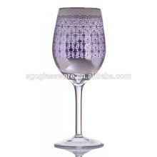 high quality wine glass mason jar with stem