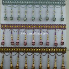 wholesale cheap decorative bead tassels for curtain