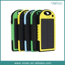 2014 Outdoor sports anti broken rainproof portable cell phone solar panel battery charger