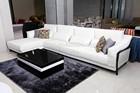 White Fabric Luxury Corner Sofa