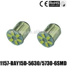 New High Power 5630 LED 6 SMD BA15S BAY15D 1156 1157 led car light