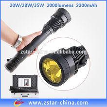 Hot sale high power ICR18650 (2200mAh) Battery 3200 lumens hid rechargeable jetta flashlight