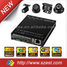 1080P HD with 3G+ WiFi+GPS 4ch mini 128gb SD card School Bus/ Police car /Taxi/Truck DVR