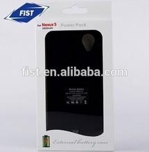 Hottest sale for nexus 5 battery case 3800MAH external battery case for LG/Google Nexus 5