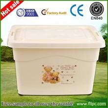 Whole sale 4 drawers plastic storage box with lock