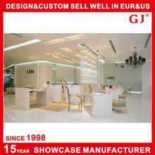 fashion wood jewellery showroom furniture design for jewellery display