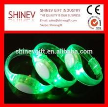 Sound Activated LED Lighting flashing Promotional Wristbands