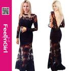 Black lace wholesale newly fashion evening dress online shopping