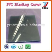 Make clear A4 pvc binding file sheet transparent plastic pvc book cover