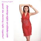 factory supplies Rhinestone chiffon sexy lingerie OEM 9038#