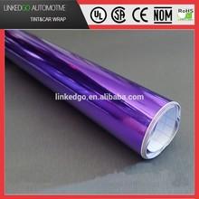 Most Popular Custom Vinyl Sticker 1.52*30M Purple Car Wrapping Chrome Mirror Film