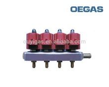 De alta calidad glp/gnc inyector de ferrocarril en auto sistema de combustible