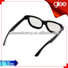 2015 linear polarized 3d glasses popular eyewear for TV/cinema