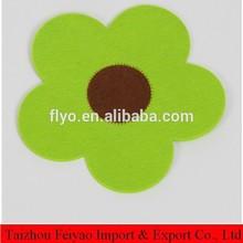 manufacturer Flower shape felt bottle coaster