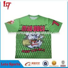 Ace crew neck custom softball jersey /baseball sportswear with sublimation printing