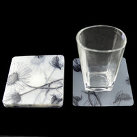 plastic clear acrylic coasters