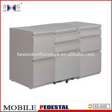 Office furniture 3 drawer mobile filing metal pedestal