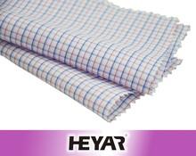 small check cotton plaid poplin fabric for mens shirts