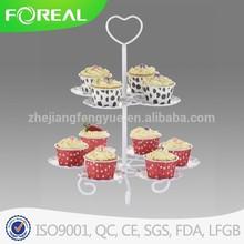 single tier powder coating wedding cake stand