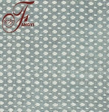 White Smooth Polka Dot Cotton Poly Knitted Mesh Fabric