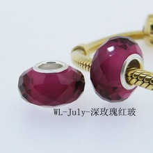 Top Quality Fashion Crystal decorative ball beads WL-July-Deep Rose Red Glass
