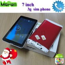 7 inch mini pc dual sim / city call andorid cell phone/ mapan dual core dual sim phone