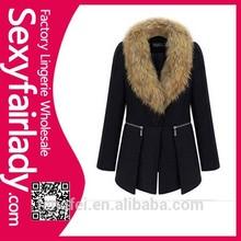 2015 high qualiry warm fur collar thick winter women's coat