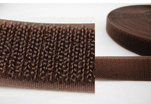 double sided brown color 20mm wid velcro female side