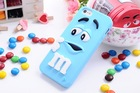 3D Silicone Cartoon m&m Chocolate Beans Case cover for iphone 5 5s iphone5,50pcs/lot