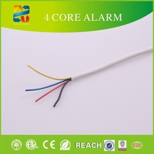 high quality 100m white color 4 core security alarm cable /100 METERS 4 CORE ALARM AND SIGNAL CABLE rohs security camera
