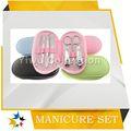 Manicure com o saco de dobramento, manicure e pedicure sets, mancha de aço material de jogos de manicure