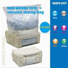Nice Non Woven cover Tote + Vacuum Storage Bag
