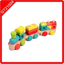 wonderful and safe wooden Train Block Toy