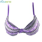 purple and black 3/4 cup breathable sexy lingerie for women