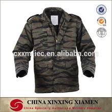Tiger Stripe Camouflage Military Men's Jacket M65