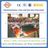 Semiautomatic machinery corrugated small carton box folder gluer machine